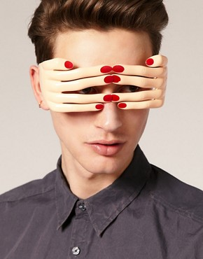 Image 3 of Linda Farrow Projects Jeremy Scott Hands Sunglasses
