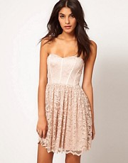 ASOS Strapless Skater Dress in Lace