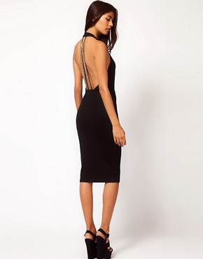 ASOS Bodycon Dress With Chain Back