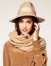 Catarzi Exclusive For Asos Wide Front Fedora Hat