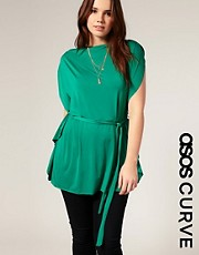 ASOS CURVE Waterfall Sleeve Waisted Top