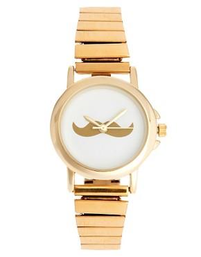 Image 1 ofASOS Moustache Face Expander Watch