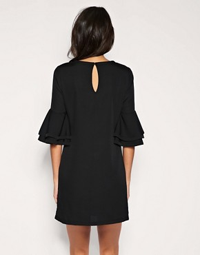 Image 2 of ASOS Layered Sleeve Shift Dress