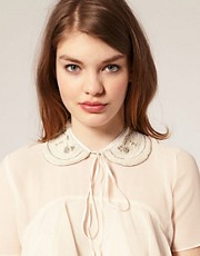 ASOS Bead And Pearl Peter Pan Collar