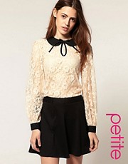 ASOS PETITE Blouse With Contrast All Over Lace