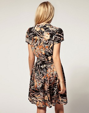 Image 2 of Minkpink  Folklore  Printed Crochet Insert Dress