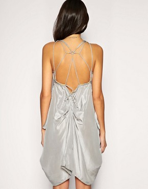 Image 2 of ASOS Spaghetti Strap Silk Dress