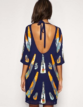 Image 2 of ASOS Mixed Embellished Tunic Dress