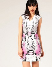 Full Circle Mirror Image Print Dress