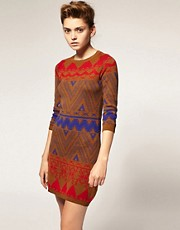 ASOS Knitted Dress in Aztec Pattern