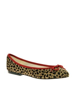 Image 1 ofFrench Sole India Leopard Pony Ballet Shoes