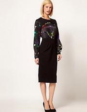 Preen Line Sequin Print Henrietta Dress