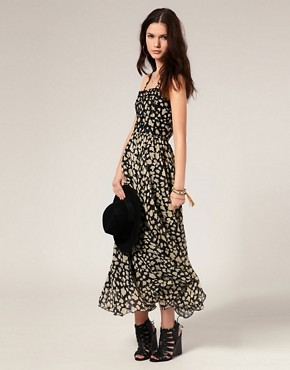 Image 1 of Winter Kate Maxi Dress in Floral Print with Beaded Bodice