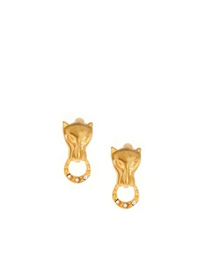 Image 1 ofSusan Caplan Exclusive For ASOS Vintage 90s Panther Clip Earrings