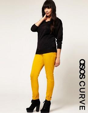 Image 1 ofASOS CURVE Mustard Skinny Jean