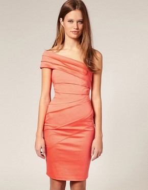 Image 1 ofASOS SALON Asymmetric Bardot Cocktail Dress