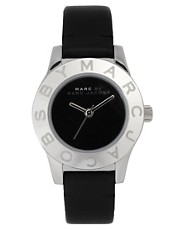 Marc By Marc Jacobs Mini Black Leather Strap Watch