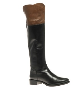 Image 1 of ASOS COCO Leather Riding Boot
