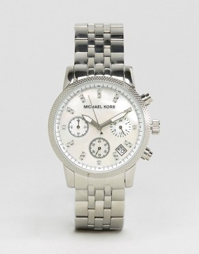 Image 1 of Michael Kors Silver Chronograph Bracelet Watch