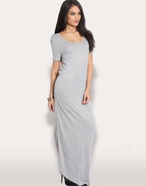 Image 1 ofASOS Lightweight Scoop Neck Maxi Dress