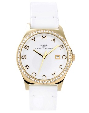 Image 1 of Marc By Marc Jacobs White Leather Strap Watch