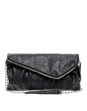 Image 1 ofWarehouse Asymmetric Zip Clutch Bag