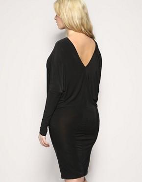 Image 2 ofASOS CURVE V-Back Jersey Dress
