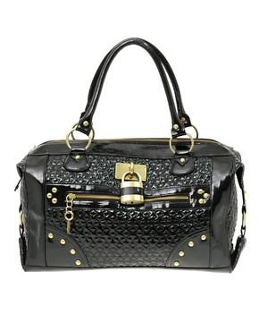 Image 1 ofASOS Star Quilted Padlock Bag