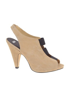 Image 1 ofASOS HEATHCLIFFE Suede Triple Elastic Sandal