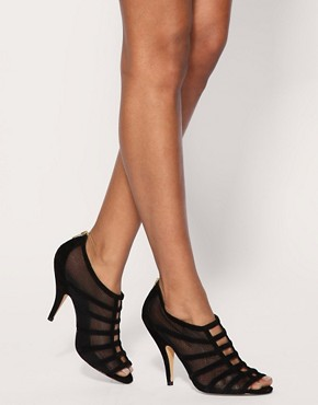Image 3 ofASOS SCANDAL Suede and Mesh Zip Back High Shoes
