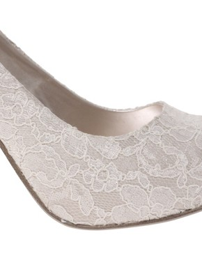 Image 3 of ASOS PEACHES Lace Platform Shoe