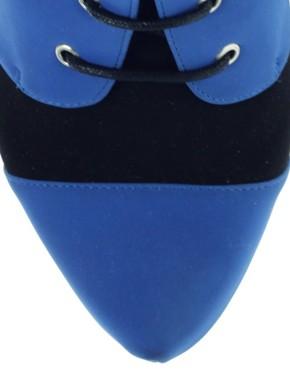 Image 1 ofASOS AVELINE Lace Up Toecap Boots