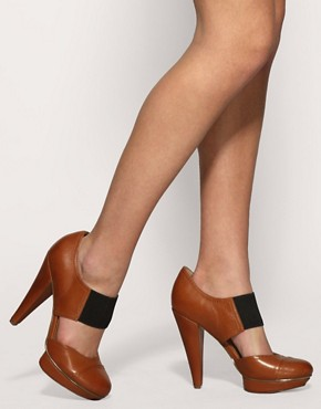 Image 3 of ASOS PING Elastic Front Platform Shoes