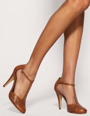 Image 3 ofASOS SQUARE T Bar Toe Cap Shoe