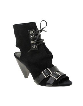 Image 1 of ASOS TWILIGHT Suede Straps & Buckle Shoeboots