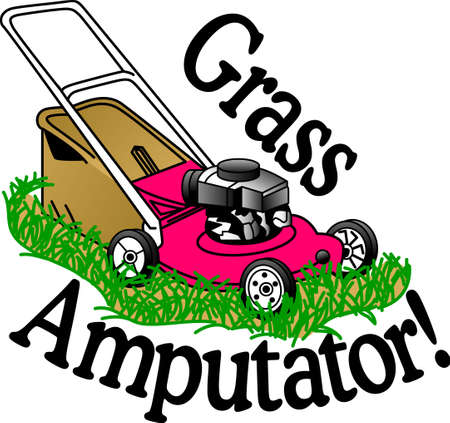 Mow The Lawn With The Right Tools And Have Your Neighbor S Envy Your Green Masterpiece A Great Design On Gardening Aprons T Shirts And More Royalty Free Vector Graphics