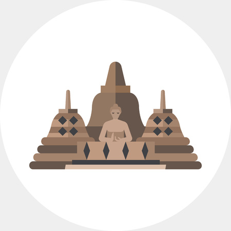 Vector Icon Of Borobudur Indonesian Landmark Buddhish Temple Indonesian Culture Indonesia Concept Can Be Used For Topics Like Travel Architecture Religion Tasmeemme Com