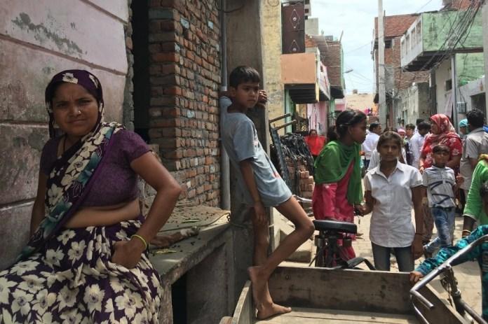 (Left) Sunita, whose house is adjacent to key accused Saleem's