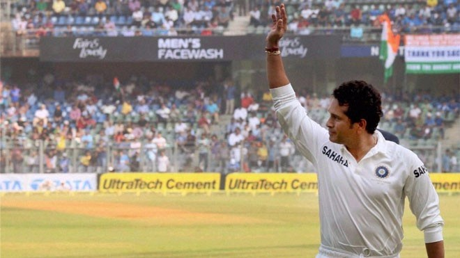 Sachin bids farewell to international cricket at Wankhede, 2013. (Photo Courtesy: BCCI)