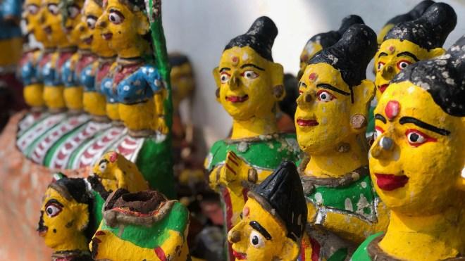 'Saptha Kannimaar' at the Alanganallur temple.