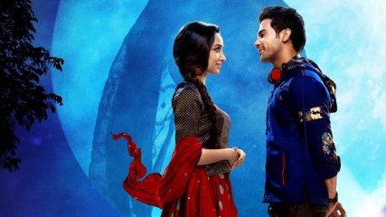 The first poster of <i>Stree</i> featuring Rajkummar Rao and Shraddha Kapoor.