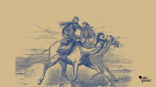 Mohammed riding a camel during an event known as the Hijra or Hegira. Image used for representational purposes.