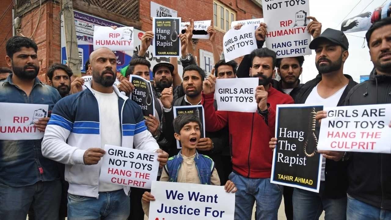 Image result for minor rape protests Srinagar, sumbal