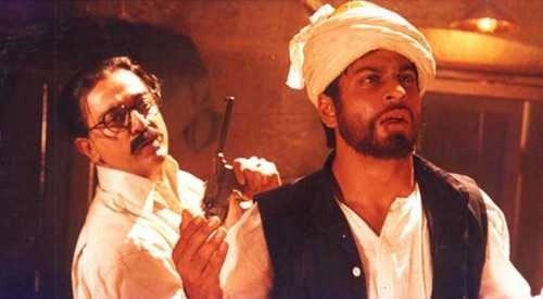 Kamal Haasan and Shah Rukh Khan in <i>Hey Ram.</i>