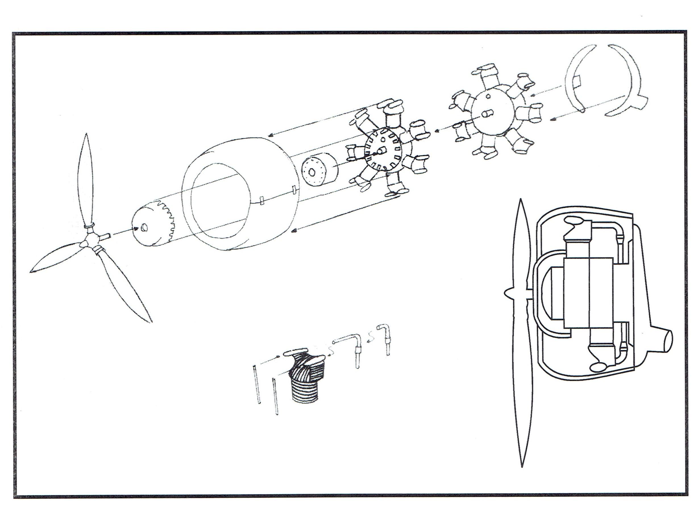 Choroszy Models 1 48 Pzl P 24b Gnome Rhone Engine With