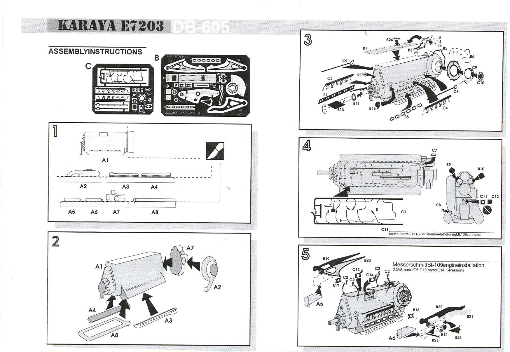 Karaya Models 1 72 Db 605 Aircraft Engine Resin Kit