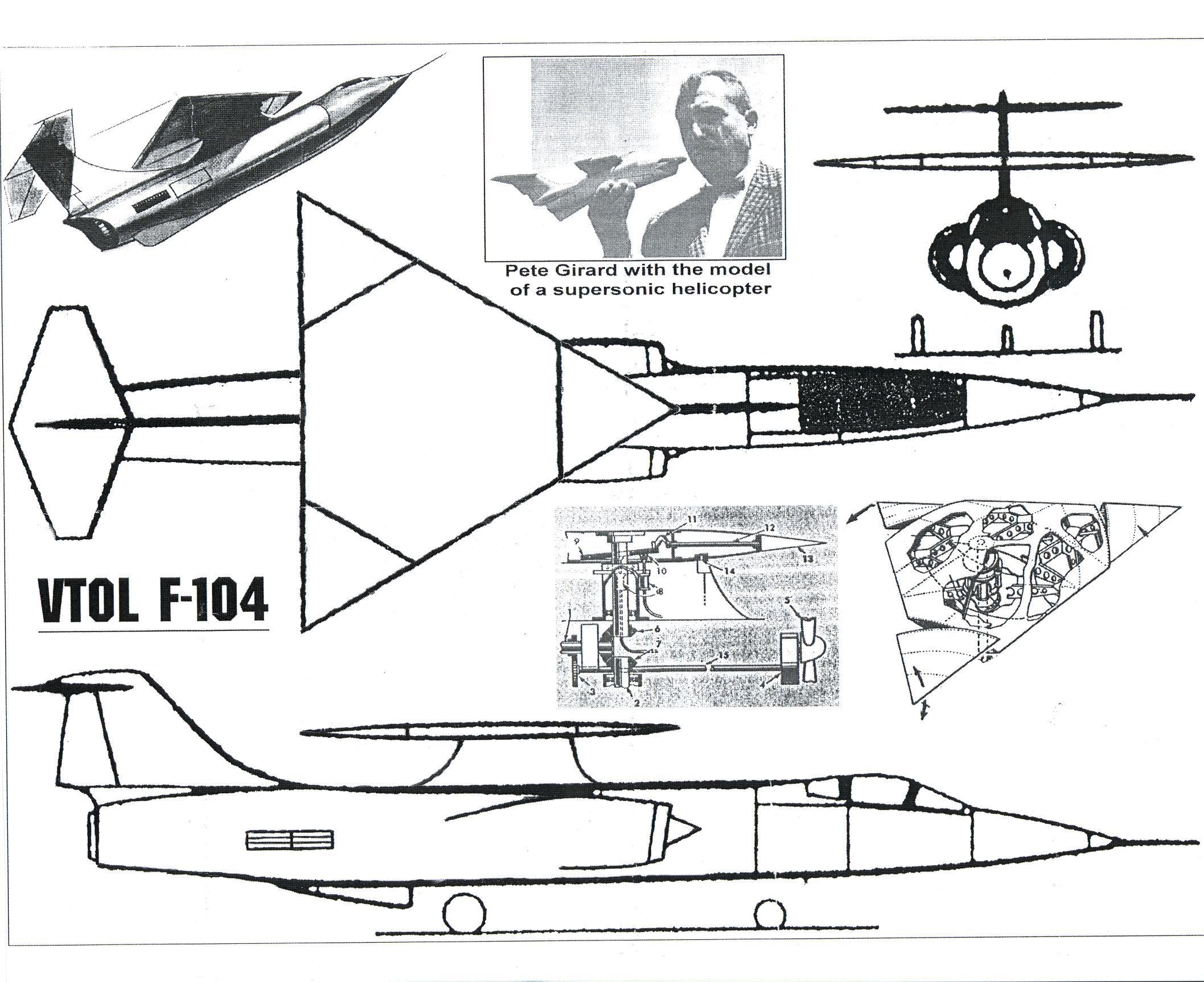 Unicraft Models 1 72 Lockheed Vtol F 104 Starfighter Resin