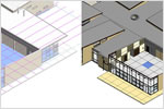 Revit architectural design software features construction modeling tools.