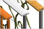Revit architectural software features railing modeling enhancements.