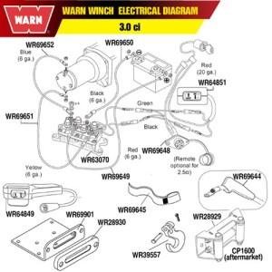 Warn Winch Hawse Fairlead Mounting Plate|
